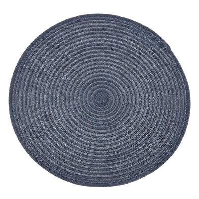 """15"""" Round Two-toned Blue Urban Woven Placemat"""