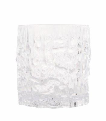 11 oz Clear On The Rocks Snow Crystal Acrylic Glass