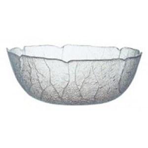 """11"""" Glass Aspen Leaf Bowl"""