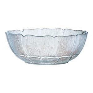 "11"" Round Glass Fleur Bowl"