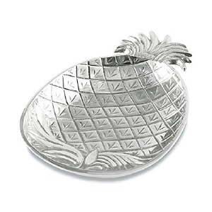 """12"""" Silver Textured Pineapple Tray"""