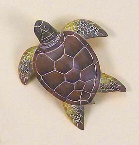 "7"" Small Green Sea Turtle Wall Plaque"