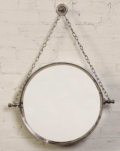 18 Round Silver Hanging Wall Mirror Wilford Lee Home Accents