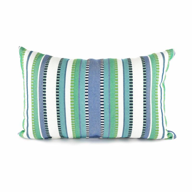 12 X 19 Green And Blue Laguna Jenga Decorative Pillow