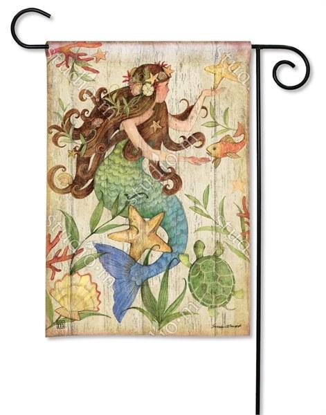 18 X 12 Mini Multicolor Rustic Mermaid Garden Flag Wilford Lee Home Accents