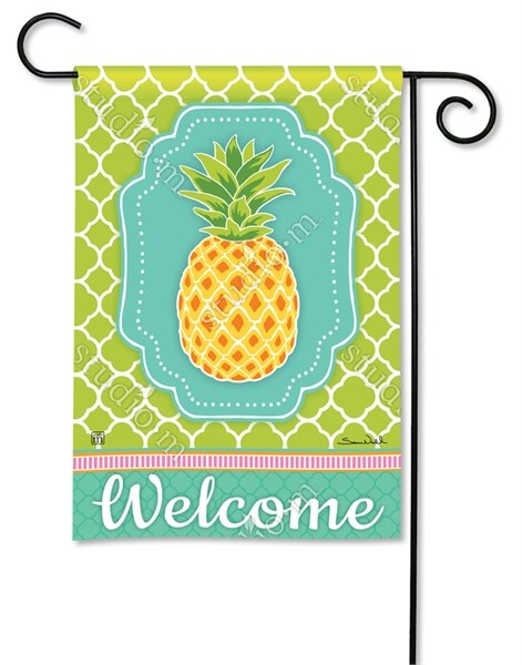18 X 12 Mini Multicolor Preppy Pineapple Welcome Garden Flag Wilford Lee Home Accents