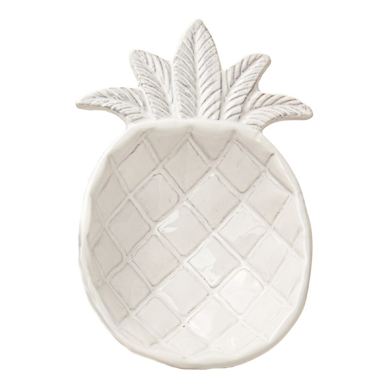 6 White Embossed Ceramic Pineapple Shaped Bowl Wilford Lee Home Accents