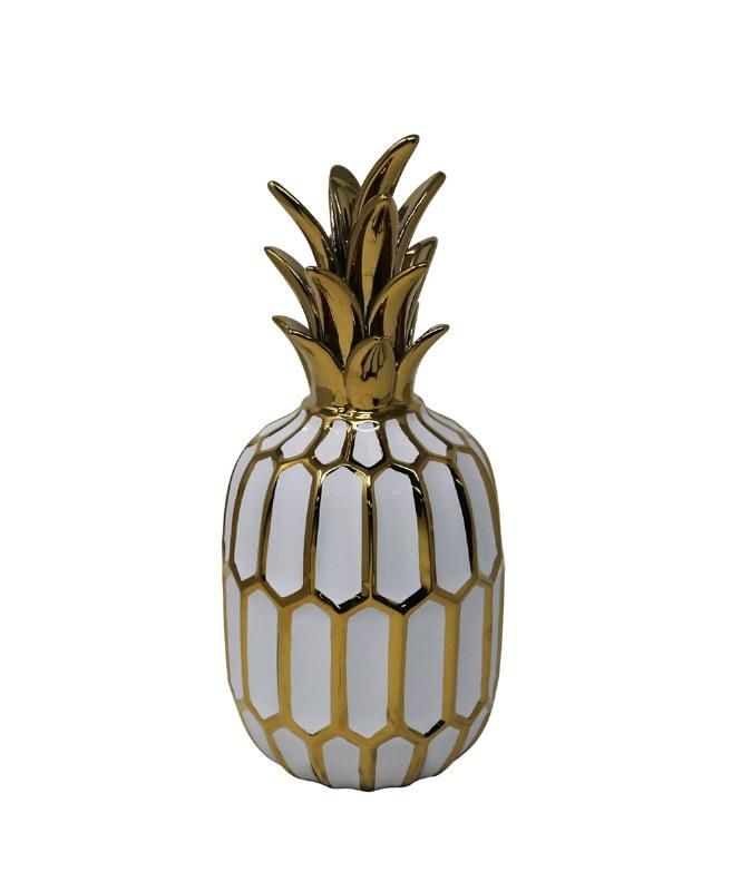 13 White And Gold Ceramic Pinele