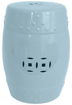 Brilliant 13 Round Light Blue Ceramic Garden Stool Gamerscity Chair Design For Home Gamerscityorg