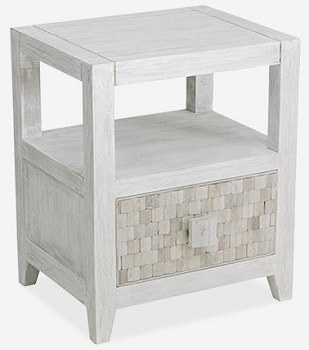 20 Whitewash Drawer End Table Wilford Lee Home Accents