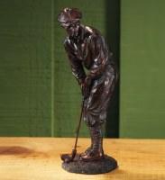 """9"""" Bronze Gentleman Golfer Figure"""