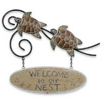 "13"" ""Welcome to Our Nest"" Sea Turtle Sign"