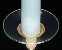 "3"" Round Clear Glass Bobeche"