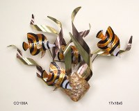 "17"" x 18"" Banded Angelfish Wall Plaque"