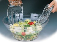 """9"""" Pair of Clear Acrylic Salad Hands"""