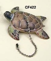 Sea Turtle Fan Pull Chain Fob