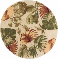 5 ft. 6 in. Round Beige Multicolor Palms Sparta Rug