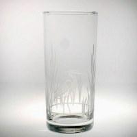 15 fl oz Etched Heron Cooler Glass