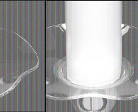 "3"" Round Clear Glass Fluted Rim Bobeche"