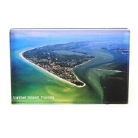 "2"" x 3"" Sanibel Island Aerial View Acrylic Magnet"