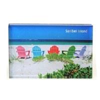 "2"" x 3"" Sanibel Rainbow Adirondack Acrylic Magnet"