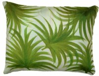 "18"" x 23"" Green Palm  Pillow"