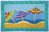 "20"" x 30"" Multicolor Beach Umbrellas Rug"