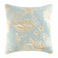 "14"" Natural Shells Decorative Pillow"