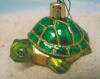 Sea Turtle Glass Ornament