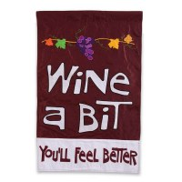 "18"" x 12"" Mini Wine A Bit You'll Feel Better Flag"