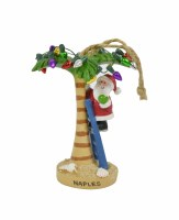 Naples Santa With Palm Ornament