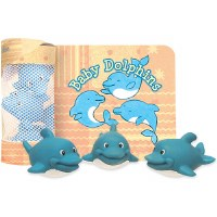 Baby Dolphins Floating Bath Time Fun Book and Toy Set