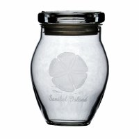 9oz Glass Sandollar Glass 'Sanibel Island' Jar