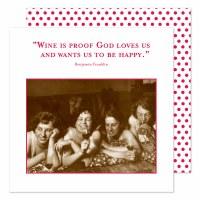 """5"""" Square Wine is Proof God Loves Us Beverage Napkins"""