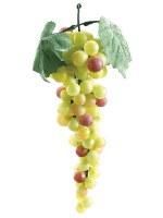 "10"" Green & Rose Artificial Grape Bunch"