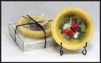 """7"""" Butterfly Garden Wax Bowl"""