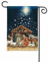 "18"" x 12"" Mini Holy Night Nativity Scene Garden Flag"