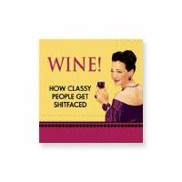 "5"" Square Wine How Classy Beverage Napkins"