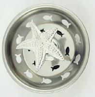 """3"""" Round Silver Starfish Sink Strainer"""