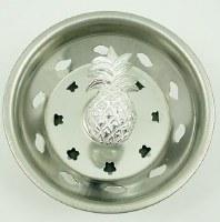 """3"""" Round Silver Pineapple Sink Strainer"""