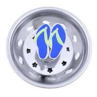 """3"""" Round Blue Enamel Flip Flops Sink Strainer"""