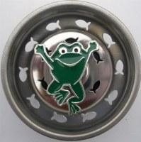 "3"" Round Green Enamel Jumping Frog Sink Strainer"