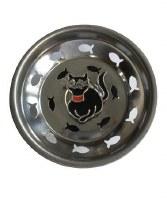 """3"""" Round Black Enamel Cat Sink Strainer"""