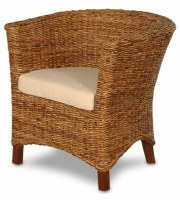 "28"" Abaca ""U"" Shaped Chair with Cushion"