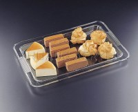 """19"""" x 13"""" Clear Acrylic Lipped Serving Tray"""