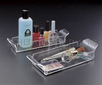 "11"" x 4"" Clear Acrylic Handled Perfume Tray"