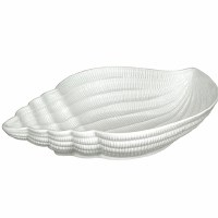 "11"" White Conch Shell Bowl"