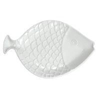 """15"""" White Embossed Fish Platter"""