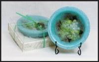 """7"""" Round Gardenia Water Lily Wax Bowl"""