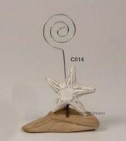 Whitewashed Starfish Photo Holder